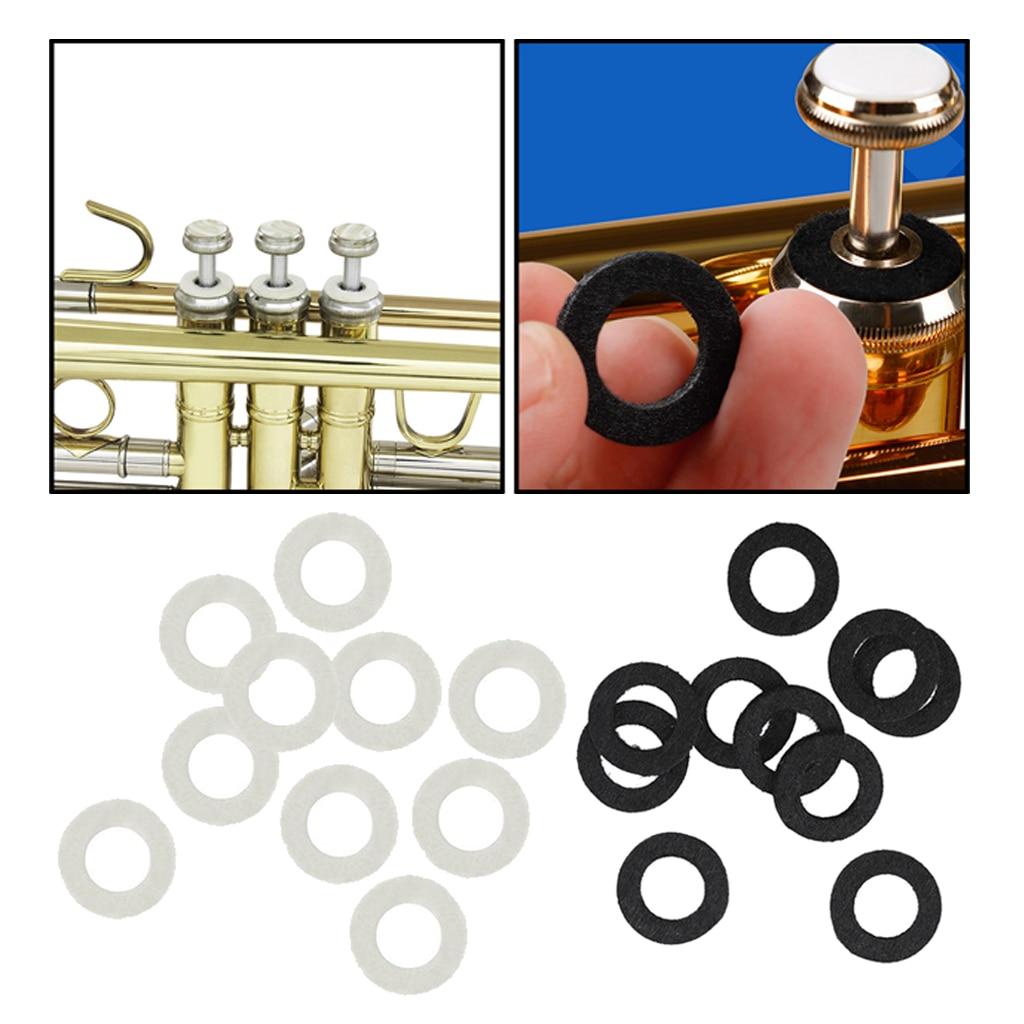 Amiable Valve Top Cap Felt Washer - Set Of 10 - For Trumpet/ Cornet/ Trombone Accessory