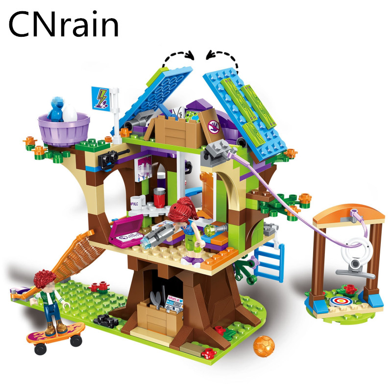 10497 Compatible with city Friends Adventure Camp Mia Tree House 41122 girl Emma Figure Model Building block For Children
