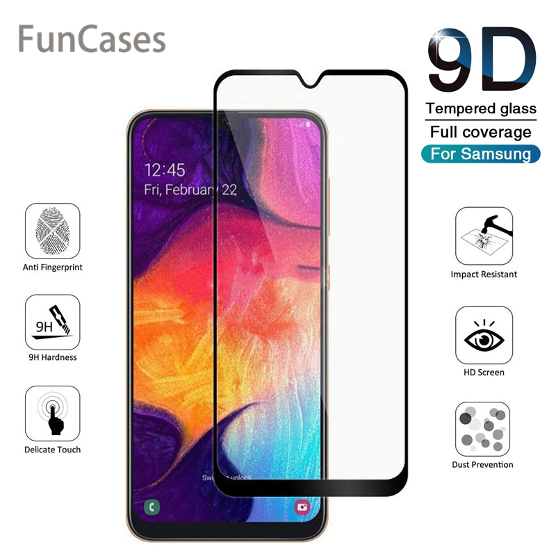 9D Curved Tempered <font><b>Glass</b></font> on the for <font><b>Samsung</b></font> Galaxy A10 A20 A30 Screen Protector for <font><b>Samsung</b></font> A40 <font><b>A50</b></font> A60 A70 A80 A90 Sklo image