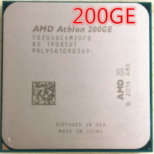 Procesador de CPU AMD Athlon 200GE X2 200GE 3,2 GHz Dual-Core Quad-Thread YD200GC6M2OFB YD20GGC6M20FB Socket AM4