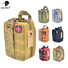 Taktyczne torba na akcesoria do pierwszej pomocy woreczki Molle medyczne EMT Emergency EDC Rip-od obiektu pakiet przetrwania IFAK praktyczna torba torba na akcesoria do pierwszej pomocy es cheap TACTIFANS Polowanie NYLON 600D polyester 15*11*21cm 26 * 19 * 3cm 10 2 * 7 5 * 1 2in 320g OD CP DE BK ACU Easy to carry