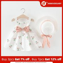 Girls Baby Dresses Cherry Toddler Bear Clothing Infant Kids New-Fashion Leader Costumes
