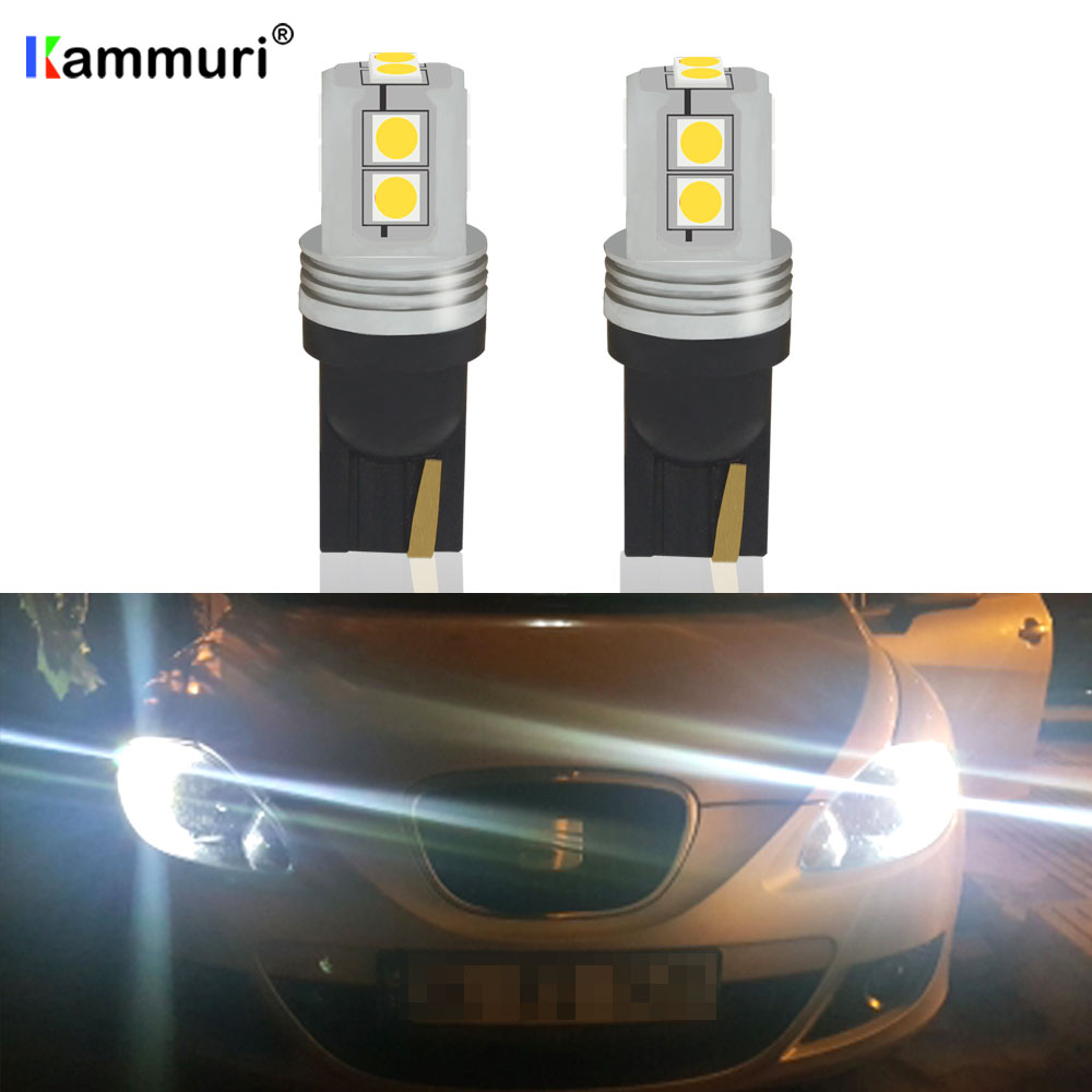 2x T10 LED Canbus Error Free Car Parking Light 12V For SEAT Leon 1 2 3 MK3 FR Cordoba Ibiza Arosa Alhambra Altea Exeo image