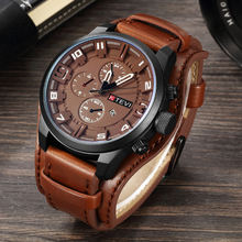 Роскошные мужские наручные часы с большим циферблатом из натуральной