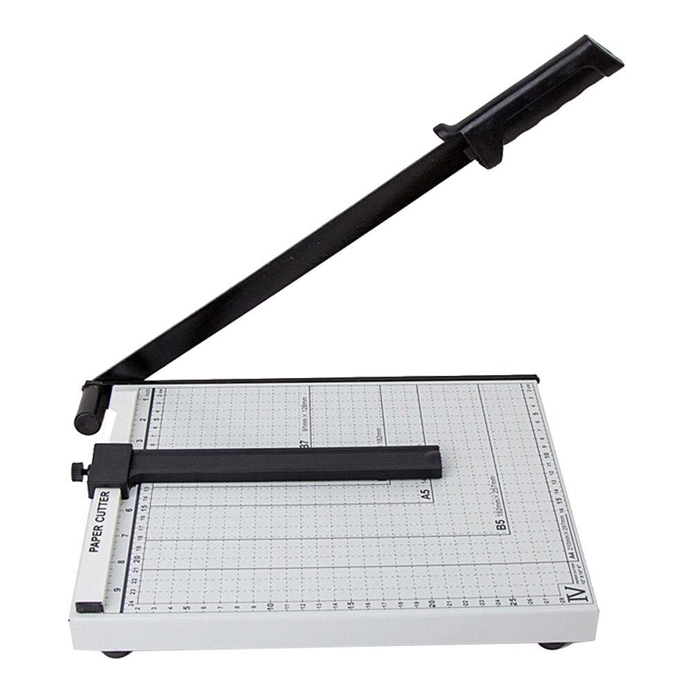 שליט נייד בטוח פלדה חותך A4 מדויק משרד מעשי בית חד להב נייר גוזם תמונה קל לפעול