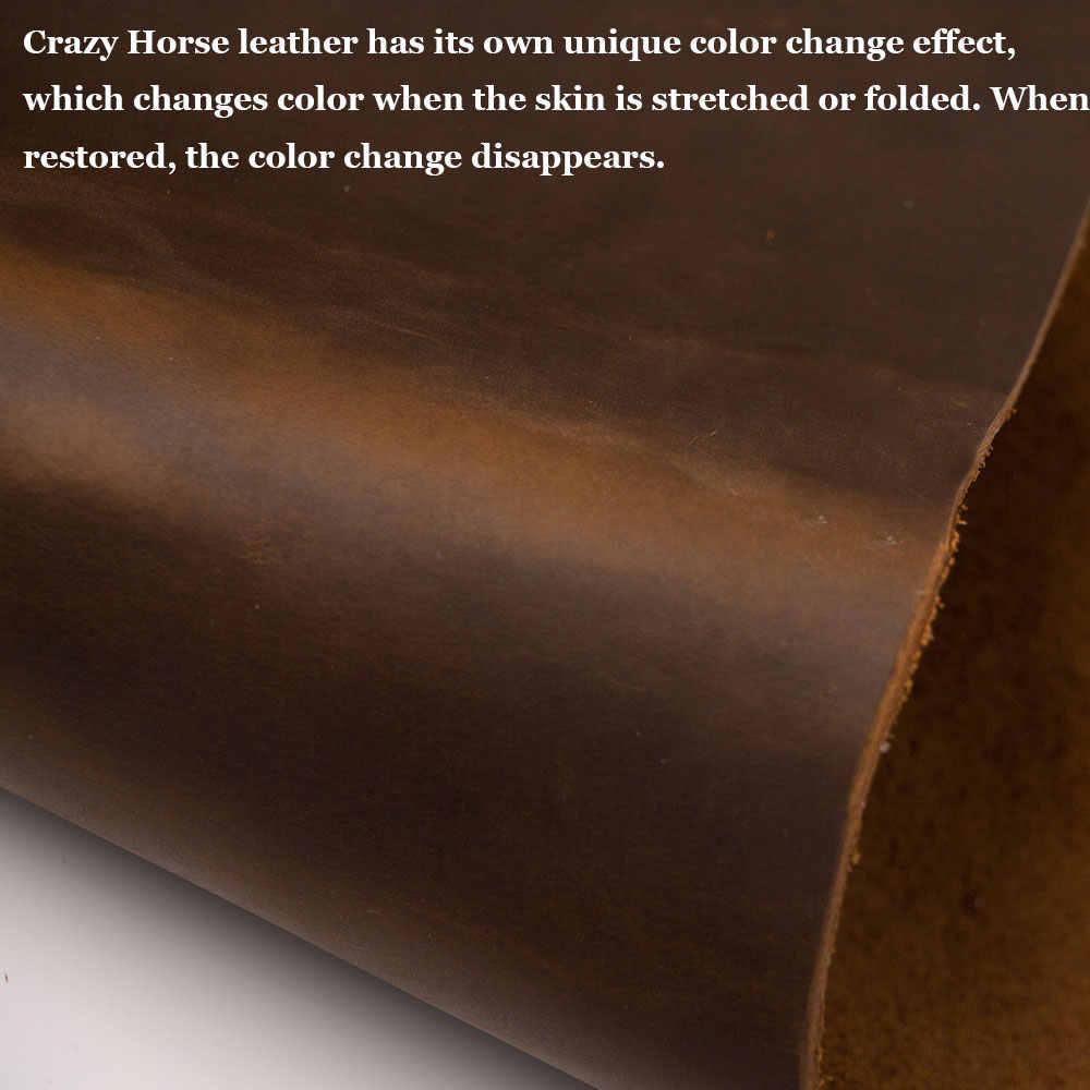 本革狂気の馬の皮ブラウンなめし牛革黄褐色本革個厚い牛皮第一層 1.8 に 2 ミリメートル