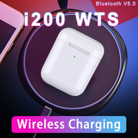 I200 TWS Bluetooth 5.0 Headset QI Wireless Charging Earbuds Pop up Headphones Latest Smart Sensor Chip earphone