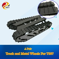 DOIT Track wheel set Rubber Track + Metal Wheels For Large Load 15kg Big Robot Tank Chassis Tracked Model Tank T007