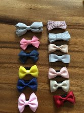 New design Baby Mini andmade Cloth Bowknot Hair Clips Kids with Little born Girls Accessories Hairpins J1901