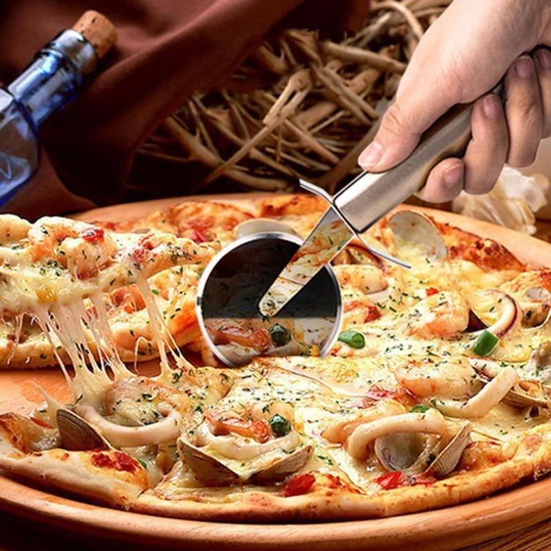 Из нержавеющей стали для пиццы одноколесные режущие инструменты диаметр 6,5 см Хо использовать держать нож для пиццы Инструменты для торта к...