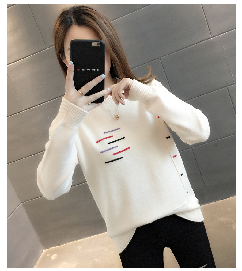 Sweaters women's 19 new fashion Korean loose autumn winter knitting bottoms wear Western clothes 13