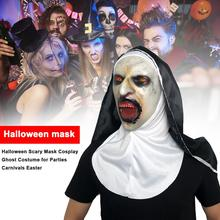 Halloween Scary Nun Mask Festival Horror Cosplay Ghost Costume for Parties Carnivals Easter Props Party Supplies