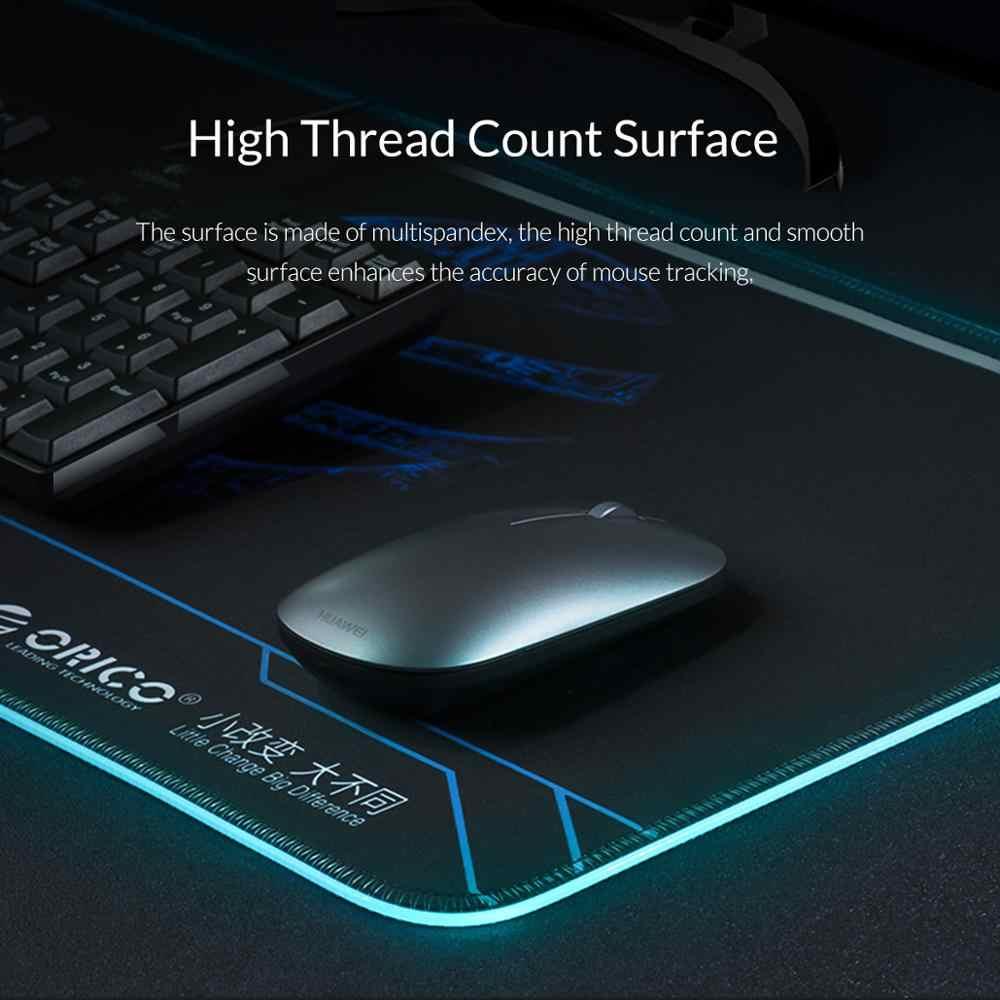Orico Besar LED RGB Gaming Mouse Pad 2M Siku Kabel Data USB Mousepad Gamer Komputer Keyboard Pad Tikar untuk overwatch Pubg Dota 2