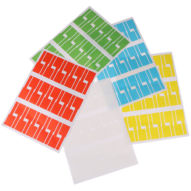 30pcs/sheet Self-adhesive Cable Sticker Waterproof Identification Tags Labels Organizers Colorful Identification Tags