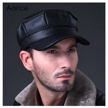 HL059 New Design Mens 100% Genuine Leather baseball Cap /Newsboy /Beret /brand Hat/ caps Golf Hat