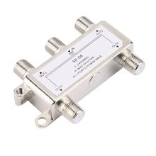 цена на Hot Selling 4 Way 4 Channel Satellite/Antenna/Cable TV Splitter Distributor 5-2400MHz F Type Wholesale In Stock Drop Shipping
