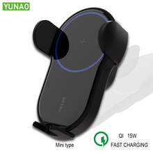 YUNAO YT01 Wireless Car Charger 15W Qi Quick Charging Mini appearance for Mi 9 iphone X XS Sumsang huawei