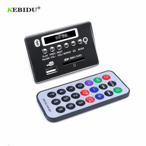Image 2 - Bluetooth 5.0 MP3デコーダのデコードボードモジュール5 v 12v車のusb MP3プレーヤーwma wav tfカードスロット/usb/fmリモートボードモジュール