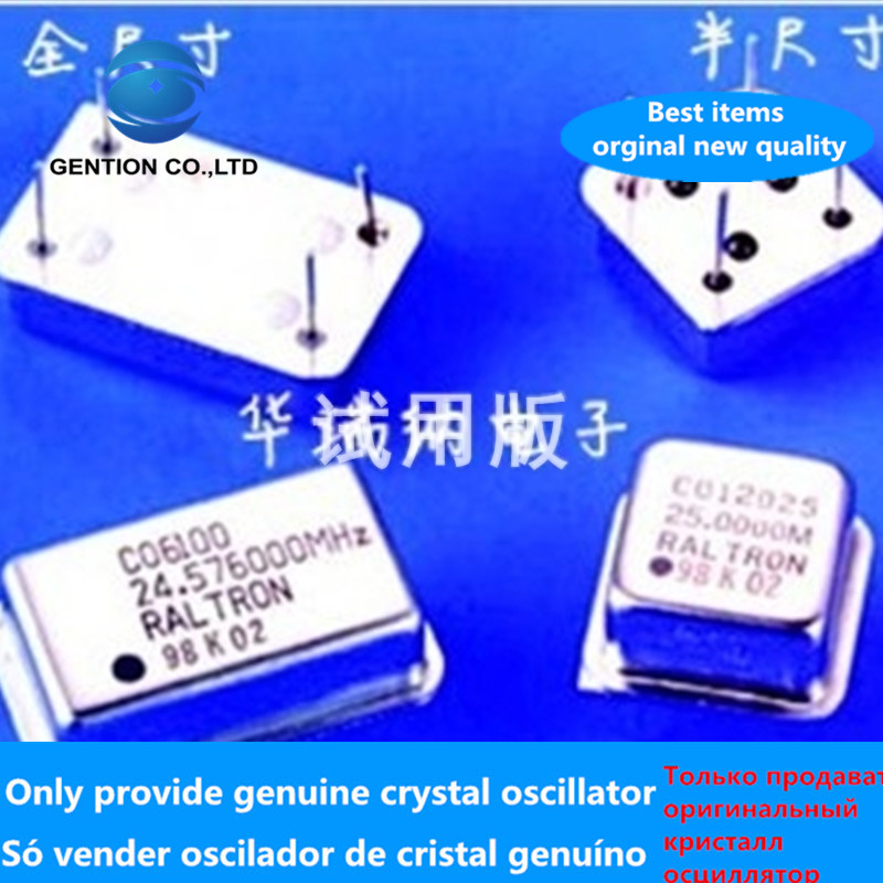 5pcs 100% New And Orginal In-line Active Crystal Clock Zhongzhen Square OSC Half Size DIP-4 24.576M 24.576MHZ
