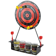 Mini Drinking Game Dart Shot Party Games Roulette Bar Game With 4 Glass Cups And 1 Target Rack Novelty Gifts stainless glasses gifts desktop bar wine game golf drinking game mini enjoyment golf table game interesting family indoor