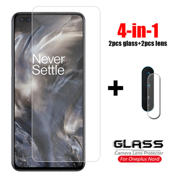 4-in-1 Glass on Oneplus 8 Nord Tempered Glass For Oneplus Z Nord 7 7T 8T Camera Lens Screen Protector HD Phone Film Oneplus Nord oneplus x premium tempered glass screen protector