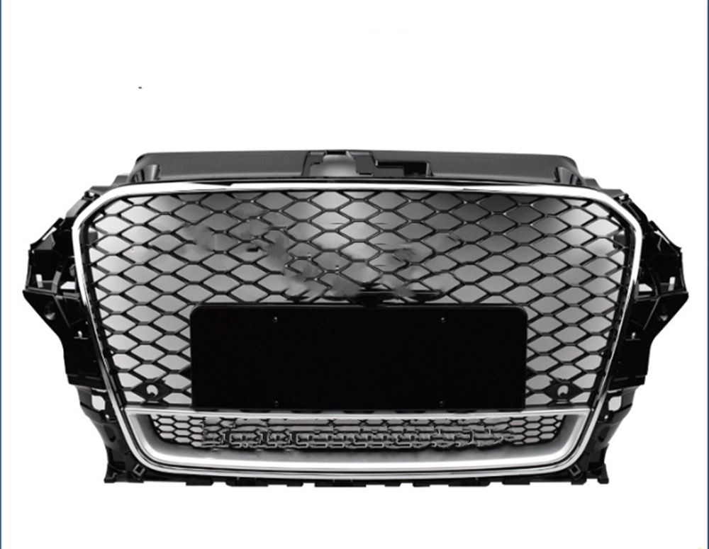 Front Honeycomb Mesh Bumper Sport Grill 2013-2016 For Audi A3 S3 8V RS3 Quattor