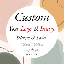 3/4/5/6cm Custom Sticker and Customized Logos Wedding Birthdays Baptism Stickers Design Your Own Stickers Personalize Stickers