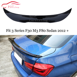 F30 tylny spojler skrzydło PSM styl dla BMW 3 seria F30 M3 F80 4-drzwi salony kosmetyczne 2012-2019 boot Trunk Lip 318i 320i 328i