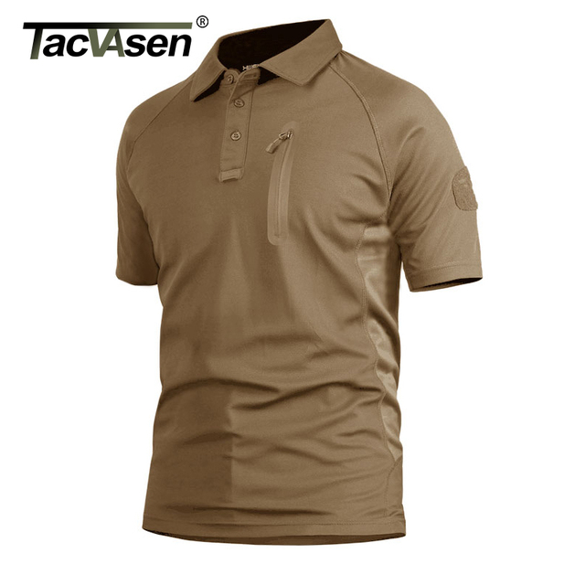 TACVASEN Summer Men's Performance T-shirts Short Sleeve Tactical Military T-shirts Quick Dry Lightweight Fish Hike Top Tees 1