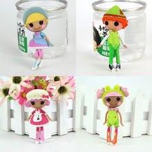 4 pces em 1, 3 Polegada original mga lalaloopsy mini bonecas para o presente das meninas