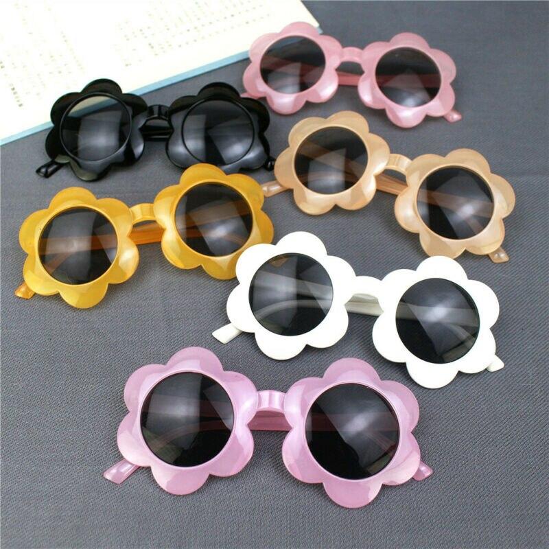 Baby Kids Unisex Children Flower Frame Sunglasses UV400 Toddler Outdoor Glasses
