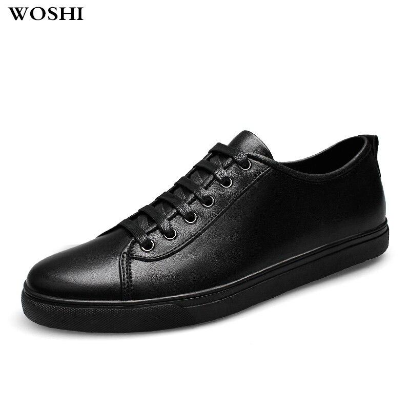 Hommes en cuir véritable chaussures à lacets jeunes hommes décontracté en plein air été trou respirant hommes tendance baskets hommes mocassins chaussures L5