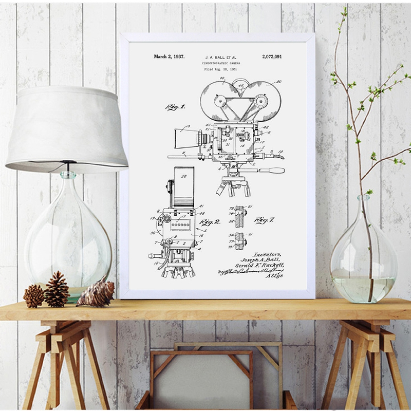 Camera Patent Poster Canvas Print