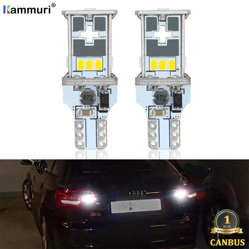 2x 15smd W16W Reverse Ampoules DEL Blanc 6000K Canbus Pour Audi A1 8X1 8XK 2010-2018