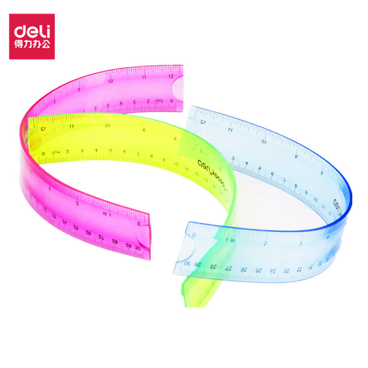 Deli 6209 Measuring Tape Bendable 30 Cm Is Not Easy To Break Students Ruler Deli Creative Cute