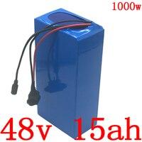 48V 15AH 48V 1000W bateria De Lítio bateria 48v 15ah bateria bicicleta elétrica com BMS 30A + 54.6V carregador 2A frete grátis|Bateria de bicicleta elétrica|Esporte e Lazer -