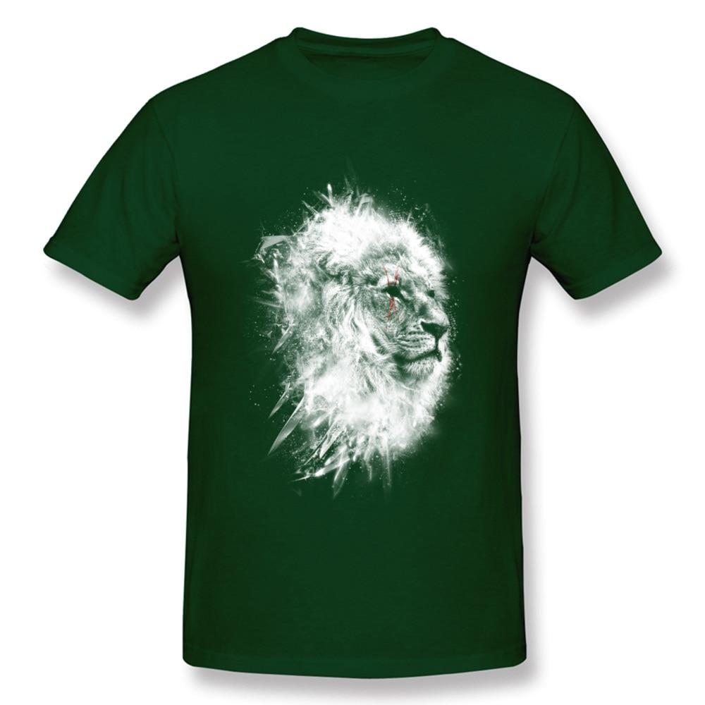 O-Neck Battle_scars_-_Lion_art_820 100% Cotton Fabric Mens T-Shirt Casual Short Sleeve Tops T Shirt High Quality Casual T-shirts Battle_scars_-_Lion_art_820 dark