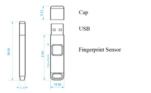 Image 3 - 32 Гб 64 Гб зашифрованные флеш накопители USB 2,0 с отпечатком пальца, высокотехнологичный флеш накопитель, USB карта безопасности