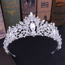 2PCs Wedding Tiara Decoration for Hair Bride Headband Princess Diadem Girls Fashion Crystal Crown Girl Accessories Ornaments