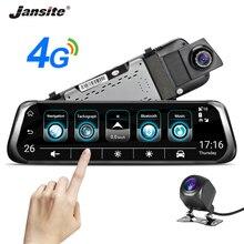 """Jansite 10 """"4G 3G dokunmatik ekran araç içi kamera Android 5.1 GPS navigasyon ADAS Video kaydedici dikiz aynası ile geri görüş kamerası"""