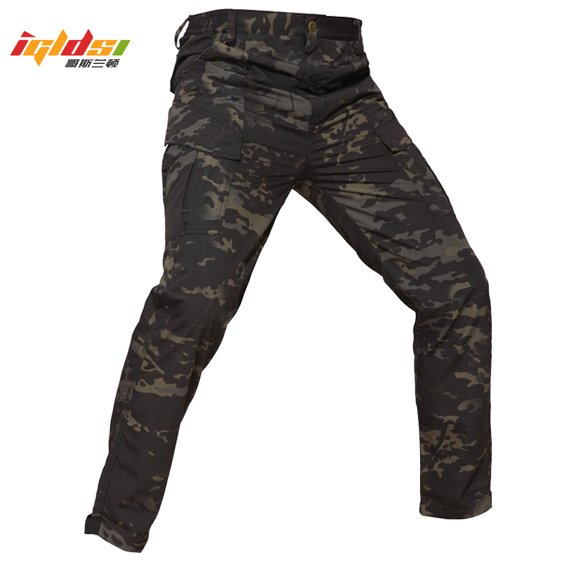 Men's Military Tactical Pants Camouflage Straight Combat Cargo Pants Special Performance Airsoft Paintball Pants Long Trousers