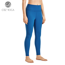 Yoga-Pants Tight Naked Workout Leggings-25-Inches High-Waist Women's Feeling