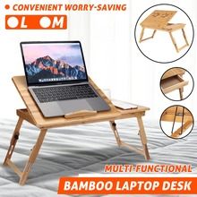 Folding Height Adjustable Small Table Computer Bed Desk Studying Table Computer Stand Laptop Desk Breakfast Brunch Table