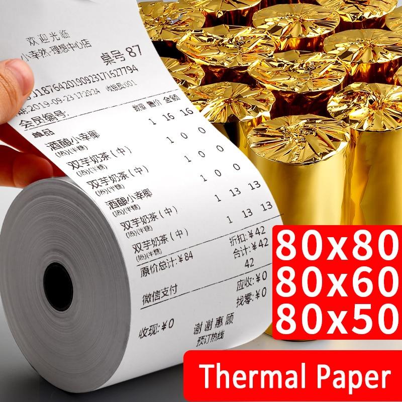 Thermal paper super long 80x 50x 60x 80mm POS printer mobile bluetooth cash register paper rollfor for restaurant supermarket