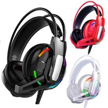 RGB Marquee Stereo Bass Wired Gaming Headset con Microfono per Xbox 360 PC Gamer(China)