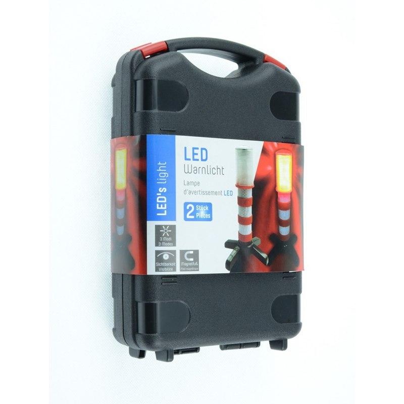 Upright Standmulti-function LED Traffic Warning Light Emergency Roadside Flares Magnetic Base Magnatek Red LED Home Accessories
