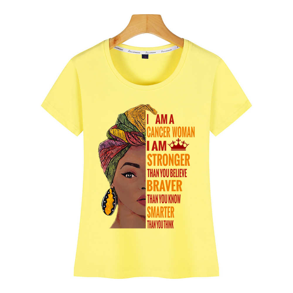 T Shirt Wanita Aku Kanker Wanita Kanker Zodiak O-Leher Vintage Kustom Wanita Tshirt