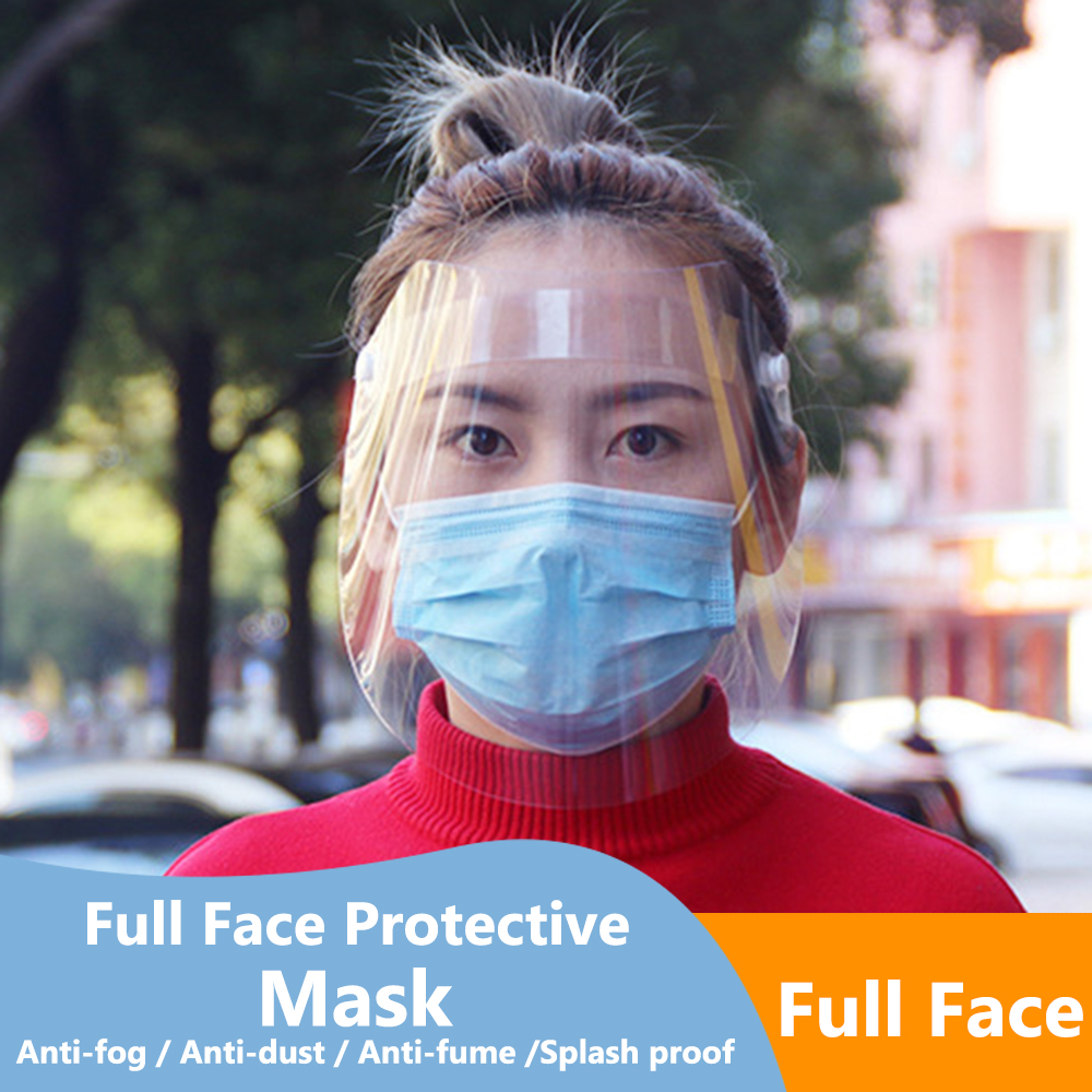 Protective Adjustable Anti Droplet Dust-proof Full Face Cover Mask Visor Shield Droplet  Windproof Face Shield Washable