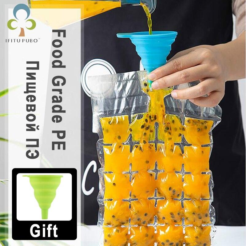 GYH outils alimentaires supplémentaires | 20 pièces, moule plateau de Cube à glace, Injection d'eau, Cocktail fait sac à glace avec entonnoir, jus de boisson, outils alimentaires supplémentaires