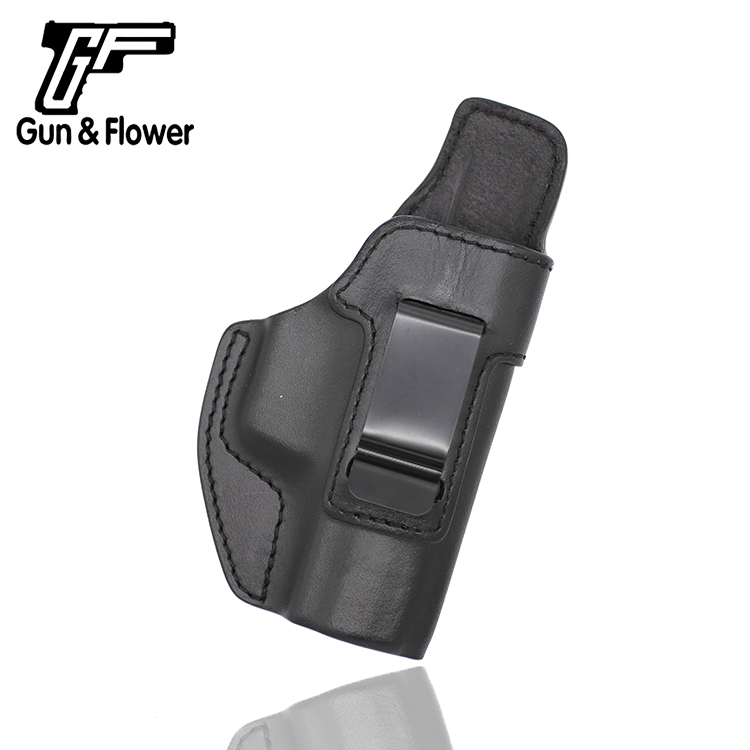 Gunflower Concealed Carry Gun Pouch Itlian Leather Holster with Belt Clip for Walther P99